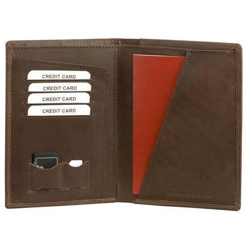 b5b8f369d4924 Koruma® Skórzany portfel paszport rfid karty zbliżeniowe dokumenty czarny -  brąz (5902730820079) 94