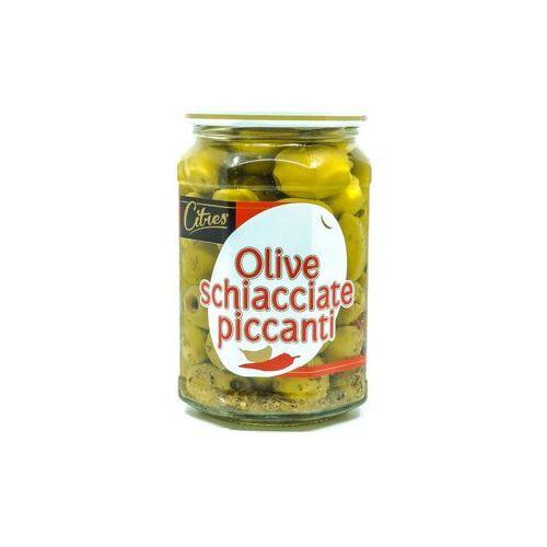 Pikantne oliwki w oleju słonecznikowym marki Fattorie del duca włoskie delikatesy