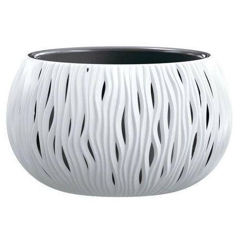 Prosperplast Doniczka sandy bowl z wkładem 37 cm biała (5905197223148)