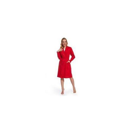 Damski bawełniany szlafrok / podomka Czerwony