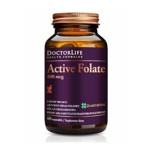 Kapsułki Doctor Life, Active Folate 800mcg, 60 kaps