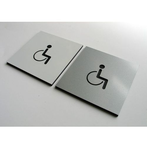 Piktogram Symbol WC Toaleta dla Niepełnosprawnych, 3218727695