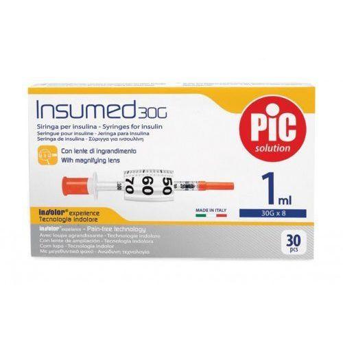 Strzykawki insulinowe insumed 1ml g30x8mm (30szt.) marki Astrana s.p. a.