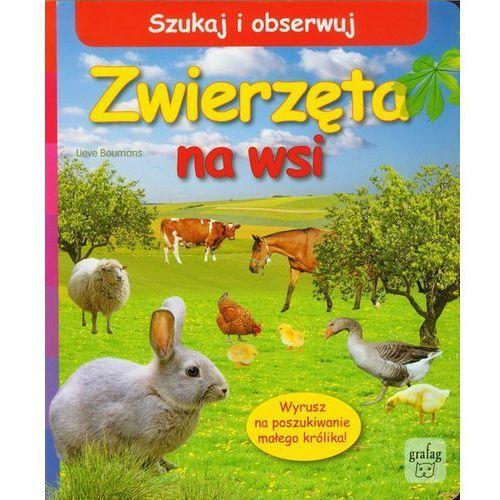 Szukaj i obserwuj Zwierzęta na wsi, książka w oprawie kartonowej