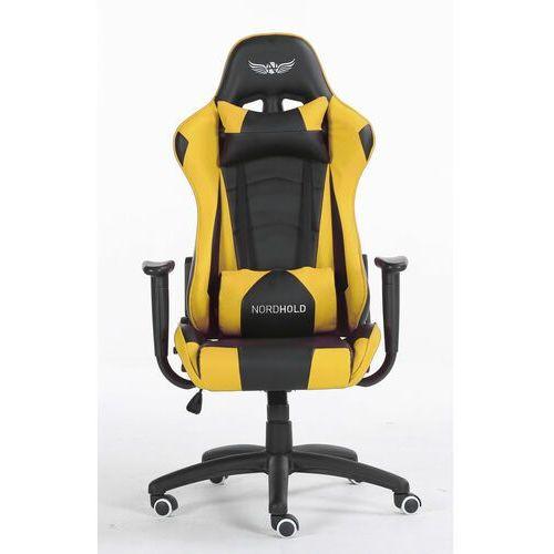 Obrotowy fotel gamingowy NORDHOLD - YMIR - żółty, NH-YMR-Y