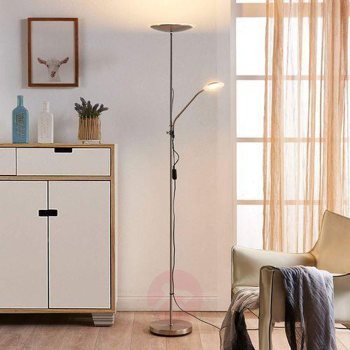 Lampenwelt.com Dyskretna lampa podłogowa led ela z małą lampką (4251096530391)