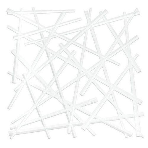 Panel dekoracyjny STIXX - 4 sztuki w komplecie - kolor biały, KOZIOL