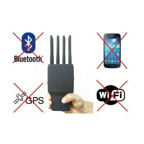 Mobilny multi-zagłuszacz lokalizatorów gps/lojack+gprs/gsm/umts + 2g/3g/4g/lte + wifi/bluetooth... marki C.f.l.