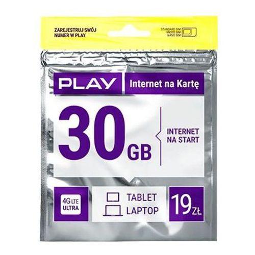 Play Internet na kartę 19PLN - produkt w magazynie - szybka wysyłka!