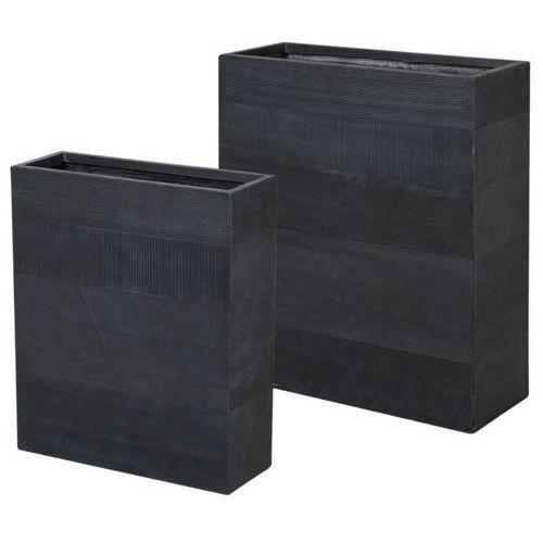 Doniczki zestaw 2 szt. czarne thimena marki Beliani