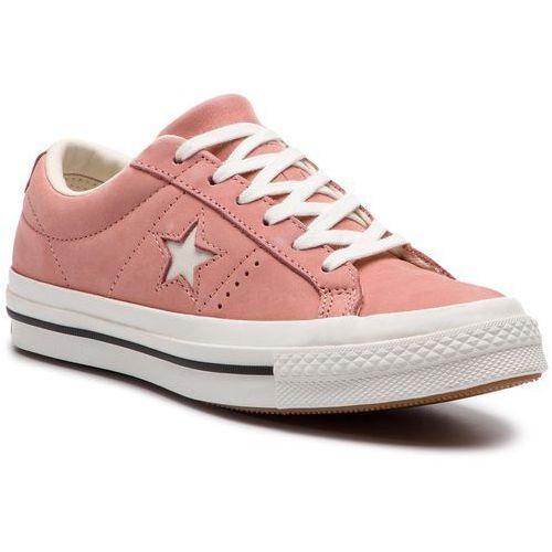 Tenisówki CONVERSE - One Star Ox 161586C Rust Pink/Egret/Vintage White, kolor różowy