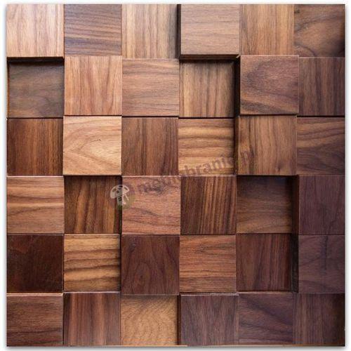 Panele drewniane Orzech amerykański kostka gładka *043 - , produkt marki Natural Wood Panels