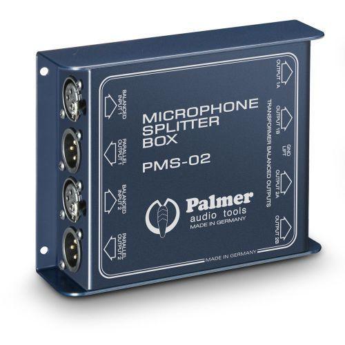 Palmer pro pms 02 2-kanałowy rozdzielacz mikrofonowy