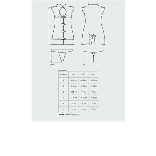 Przebranie sukienka stewardess dress costume s/m marki Obsessive