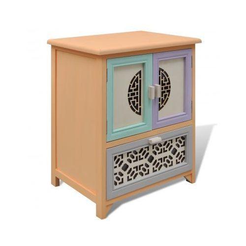 Szafka, 1 szuflada, 2 drzwi, pięknie zdobiona i rzeźbiona, vidaXL z VidaXL