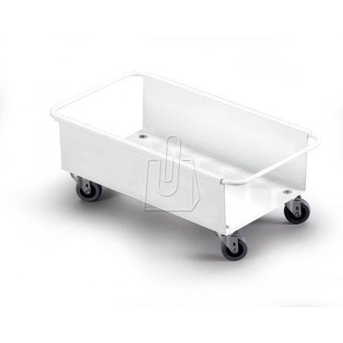 Wózek trolley na pojemnik na śmieci durabin 60 biały 1801666010 marki Durable