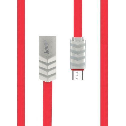 Kabel microUSB Beeyo Wave czerwony (5900495543998)