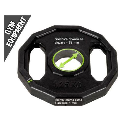 Kelton GYM EQUIPMENT obciążenie olimpijskie 1,25 kg czarne fi 51,5 mm (wielokąt) (gryf, sztanga)