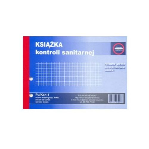 Księga kontroli sanitarnej A5 [Pu/Ksn-1] (5907510474077)