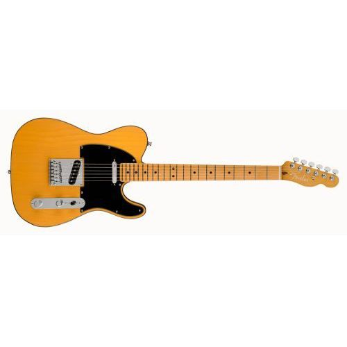 american ultra telecaster mn butterscotch blonde gitara elektryczna, podstrunnica klonowa marki Fender