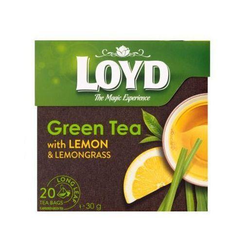 LOYD 20x1,7g Herbata zielona o smaku cytryny piramidki (5900396016188)