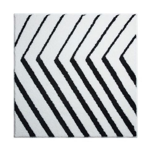 koupelnová předložka stripe, biały, 90 x 90 cm marki Grund