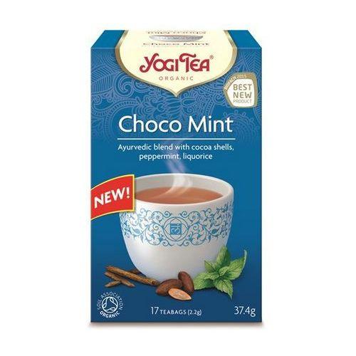 Yogi tea, usa Herbata ekspresowa choco mint z kakao i miętą bio (yogi tea) 17 saszetek po 1,8g