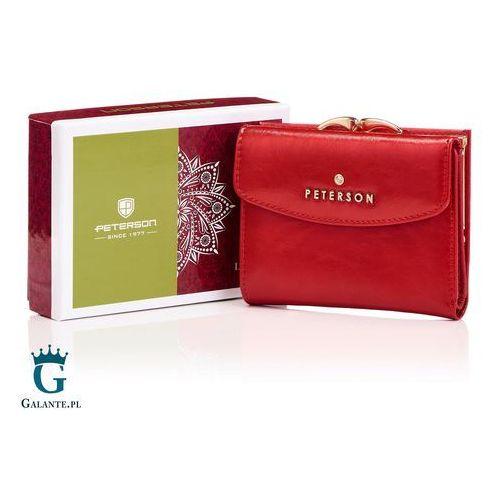 596ed55262766 ... Damski portfel skórzany zapinany na bigiel pl401-d marki Peterson  134,10 zł Kolor czerwony to jeden z.