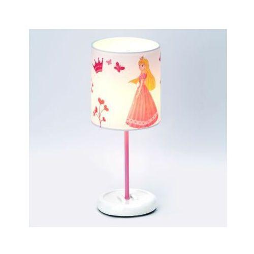 BRILLIANT Lampka na biurko średnia Princess, różowa LED - sprawdź w pinkorblue.pl