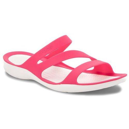 Klapki - swiftwater sandal w 203998 paradise pink/white marki Crocs