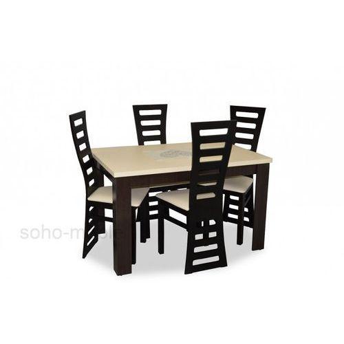 ZESTAW stół i krzesła EURYDYKA II 80x120/160cm TANIO ze sklepu soho-meble