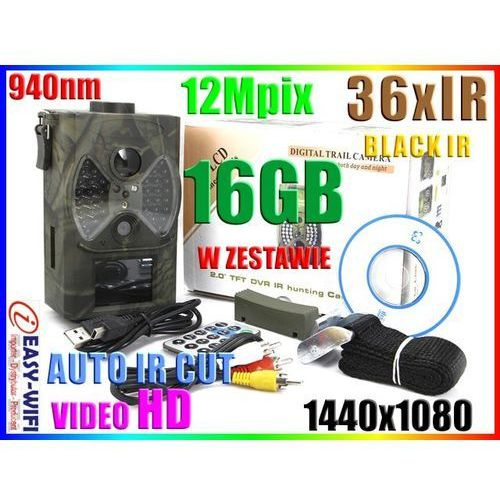 KAMERA LEŚNA NAGR VIDEO HD NA SD IRCUT 940nm +16GB (kamera monitoringowa)