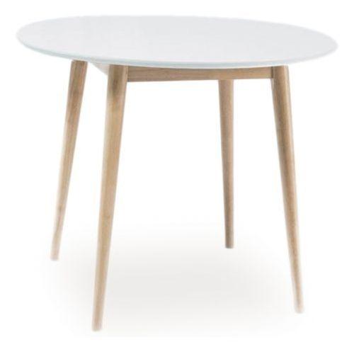 Skandynawski stół larson biały / dąb bielony 100 x 100 cm marki Signal