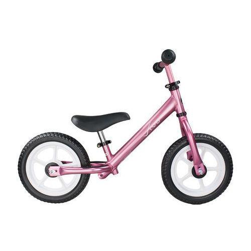 "Rowerek biegowy Vivo V5.0 12"" pink black rama aluminiowa"