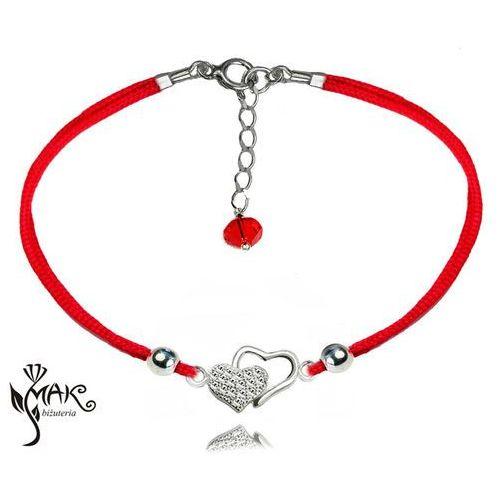 5513f51e77f2f5 BR835 BRANSOLETKA połączone serca srebrna sznurek, kolor szary 35,00 zł  Bransoletka metaliczna na sznureczku. Wytworzona ze srebra 925, a także nad  wyraz ...