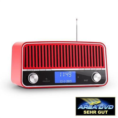 Auna Nizza DAB+ radio w stylu retro Bluetooth UKF AUX 2.1 Subwoofer czerwone