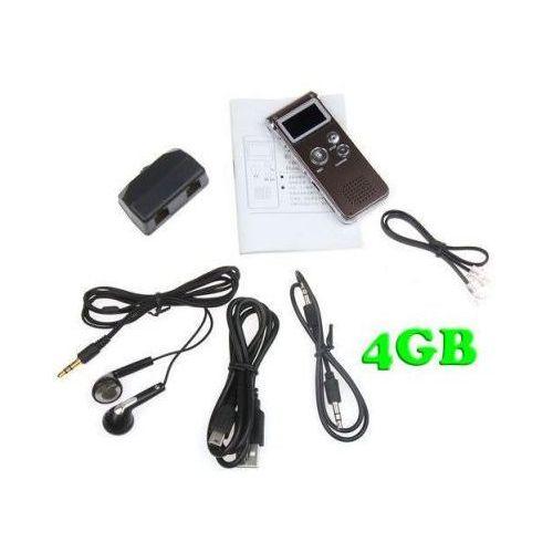 Zestaw do Cyfrowego Zapisu Rozmów Telef. Stacjonarnych 4GB (500h) + Współpraca z PC + VOX + MP3..., 5907773416370