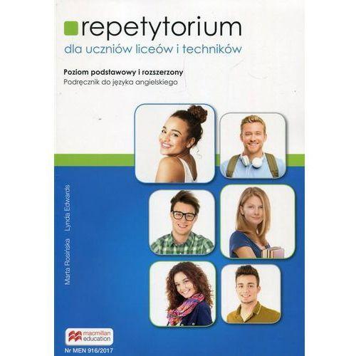 Repetytorium Podręcznik do języka angielskiego z płytą CD Poziom podstawowy i rozszerzony - Marta Rosińska, Edwards Lynda, Macmillan