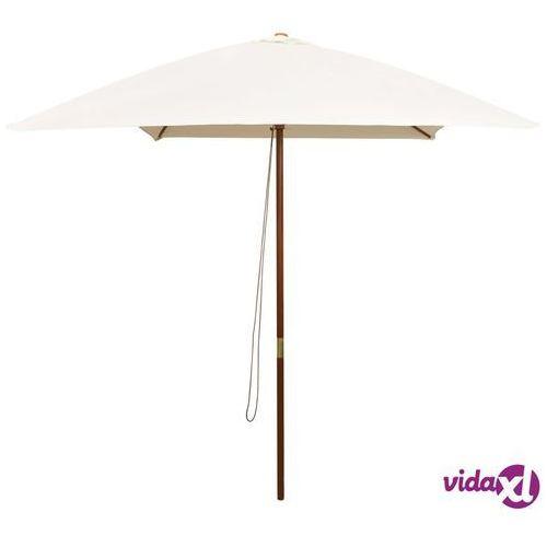 vidaXL Parasol ogrodowy, 200x300 cm, drewniany, kremowy (8718475505488)