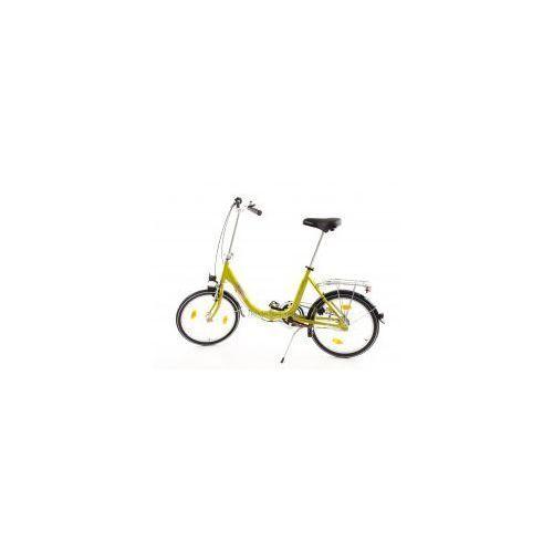 Aluminiowy rower składany składak niska rama mifa biria 3-biegi shimano, oliwkowy marki Mifa germany