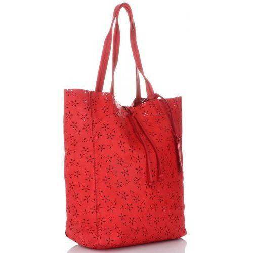 ddc944d47 Vittoria gotti Włoskie torebki skórzane ażurowany shopper w stylu vintage  firmy wykonany z wysokiej jakości skóry naturalnej czerwone (kolory) 399,00  zł ...