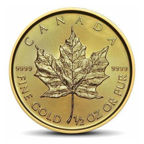 Royal canadian mint Kanadyjski liść klonowy 1/2 uncji złota - 15 dni