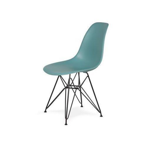 Krzesło plastikowe DSR BLACK pastelowy turkus.29 - podstawa metalowa czarna, K-130.SURFIN.29.DSRB (7811838)