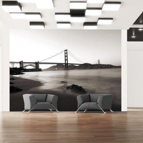 Fototapeta - San Francisco: Most Golden Gate w czerni i bieli, A0-LFTNT1078 (5704178)