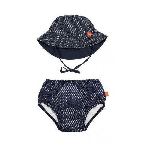 Zestaw kapelusz i majteczki do pływania UV 50+ Lassig - Polka Dots Navy 0-6msc 4042183359137 (4042183359137)