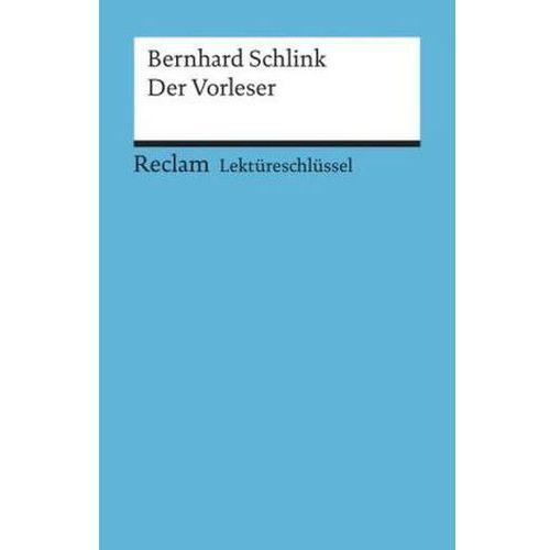 Lektureschlussel Bernhard Schlink Der Vorleser