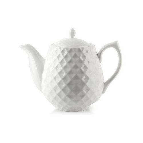 Biały nowoczesny dzbanek do herbaty kawy diament marki Mondex