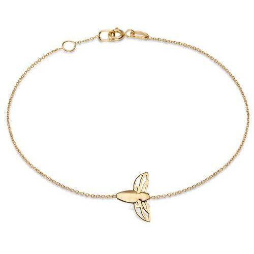 Queen b - złota bransoletka marki Biżuteria yes