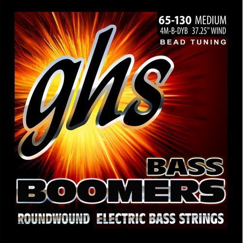 Ghs bass boomers struny do gitary basowej 4-str. medium,.065-.130, bead tuning