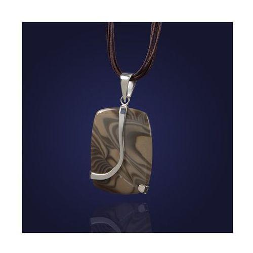 Srebrny wisior z krzemieniem pasiastym. ze sklepu AnKa Biżuteria